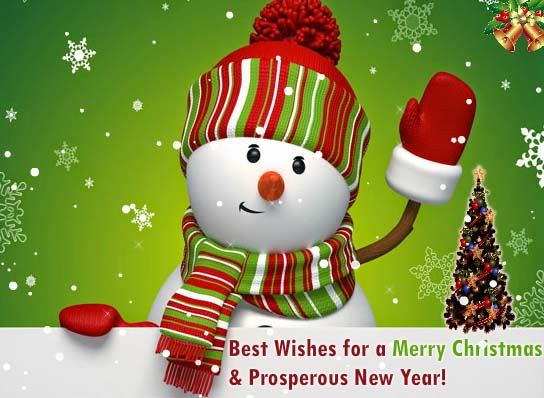 Snowman Merry Christmas Wishes Free Merry Christmas