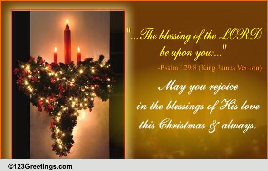 Blessings Of The Lord On Christmas Free Religious
