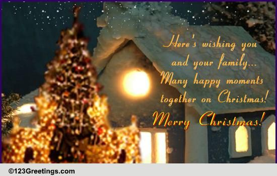 Many Happy Moments On Christmas Free Religious Blessings ECards 123 Greetings