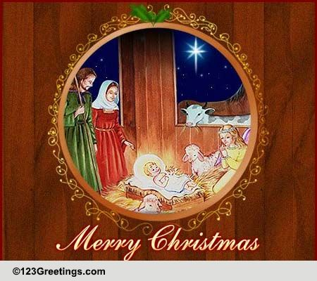 Christmas Blessings And Wishes Free Religious Blessings ECards 123 Greetings