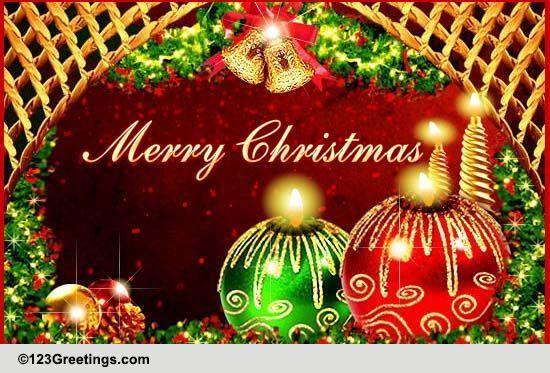 Peace Love Amp Goodwill On Xmas Free Spirit Of Christmas ECards 123 Greetings