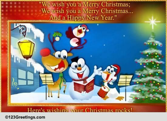 Wish You A Merry Christmas Free Carols ECards Greeting