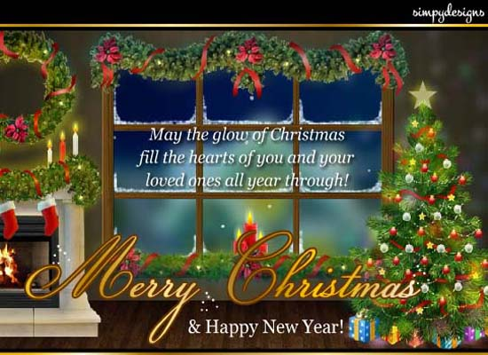 Christmas Wishes And Blessings Free English ECards