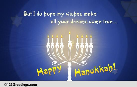 Happy Hanukkah Wishes Free Happy Hanukkah ECards Greeting Cards 123 Greetings