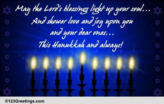 Lords Blessings On Hanukkah Free Religious Blessings ECards 123 Greetings