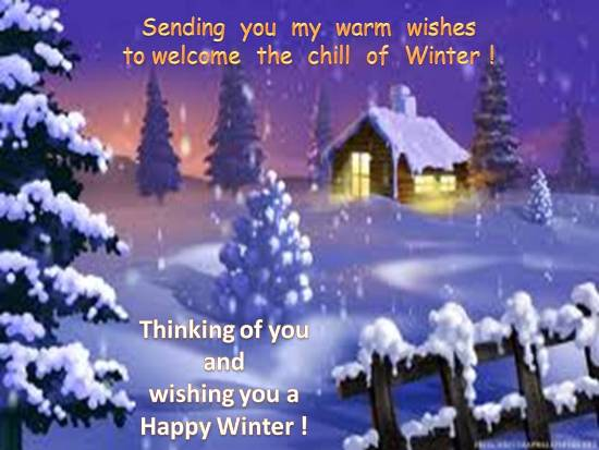 Warm Greetings To Face Winter Chill Free Happy Winter