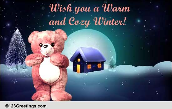 Warm And Cozy Winter Hugs Free Happy Winter ECards Greeting Cards 123 Greetings