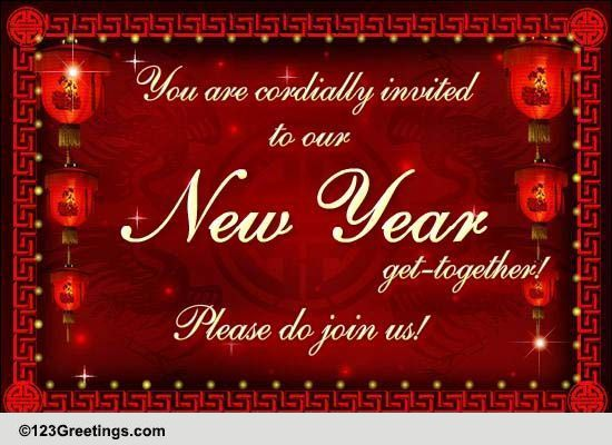 Chinese New Year Invitations Cards Free Chinese New Year Invitations Wishes 123 Greetings