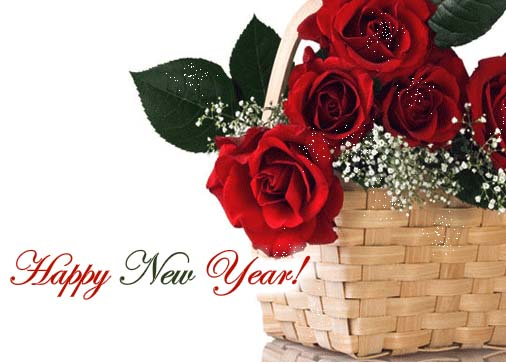 rose new year greetings