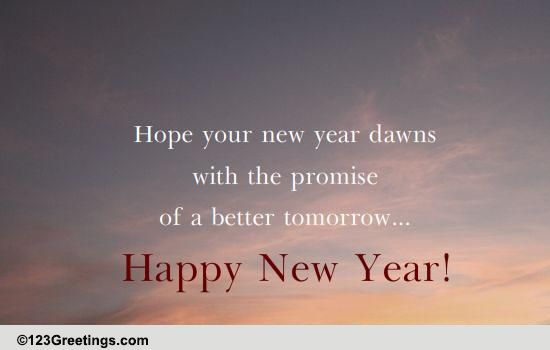 A Promising New Year Free Inspirational Wishes ECards Greeting Cards 123 Greetings
