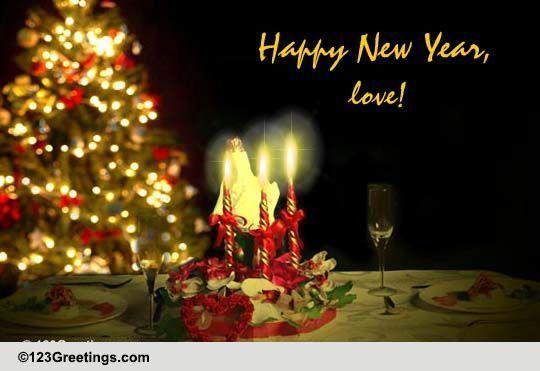 Hey Sweetheart Happy New Year Free Love ECards Greeting