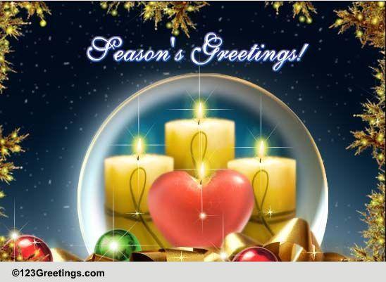 Seasons Greetings Peace And Joy Free Seasonal Blessings ECards 123 Greetings