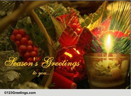 Countless Blessings Of The Season Free Seasonal Blessings ECards 123 Greetings