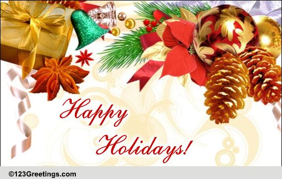 Joy Prosperity And Good Tidings Free Business Greetings ECards 123 Greetings