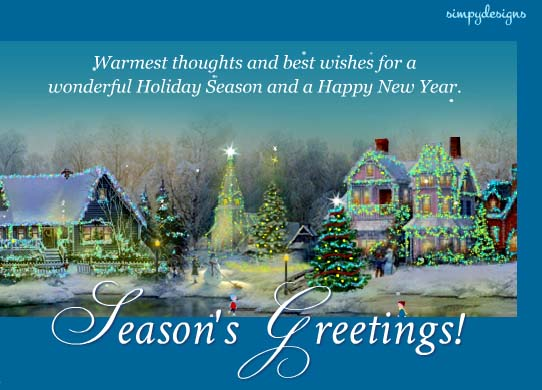 Seasons Greetings And Happy New Year Free Warm Wishes