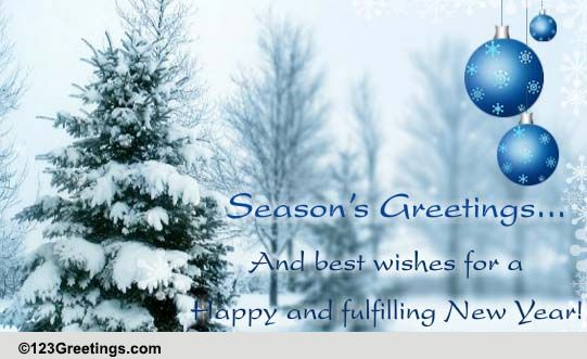 Seasons Greetings Formal Wishes Free Seasons Greetings ECards 123 Greetings