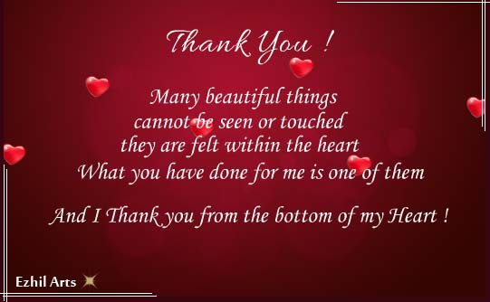 My Wishes From The Bottom Of My Heart Free Thank You ECards 123 Greetings