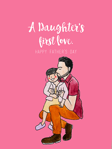 Father And Daughter Free From Daddys Girl ECards Greeting Cards 123 Greetings