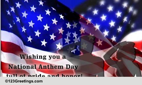 National Anthem Day Cards Free National Anthem Day Wishes 123 Greetings