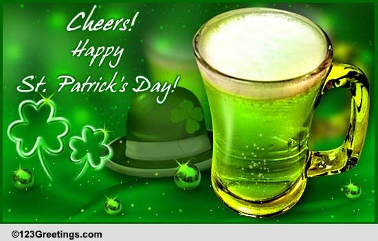 Pint O Cheers On St Patricks Day Free Happy St Patricks Day ECards 123 Greetings