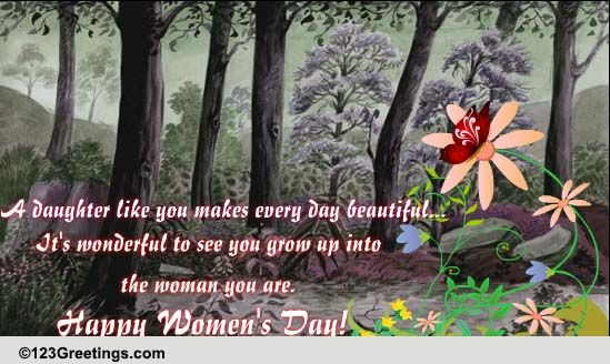 Womens Day Wish For A Daughter Free Family ECards Greeting Cards 123 Greetings