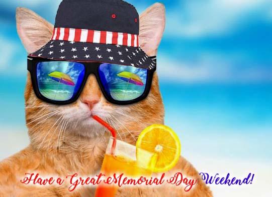 Cheers Its Memorial Day Weekend Free Weekend ECards 123 Greetings