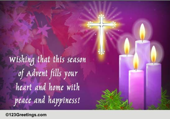 Happy And Peaceful Advent Free Advent ECards Greeting