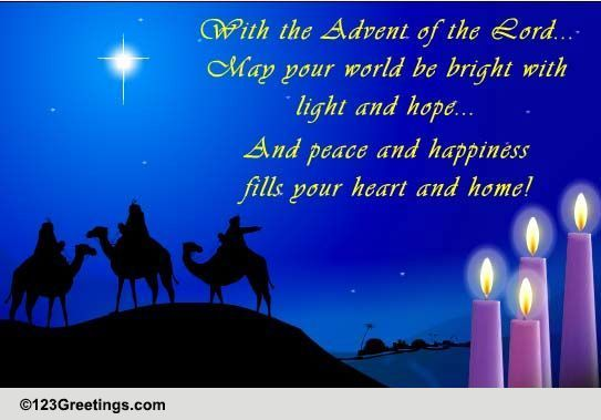 The Advent Of The Lord Free Advent ECards Greeting Cards 123 Greetings