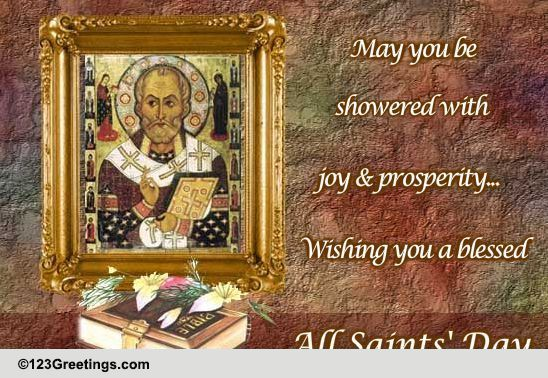 Blessings On All Saints Day Free All Saints Day ECards 123 Greetings