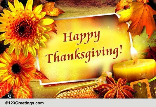 Warm Wishes For Thanksgiving Free Business Greetings ECards 123 Greetings