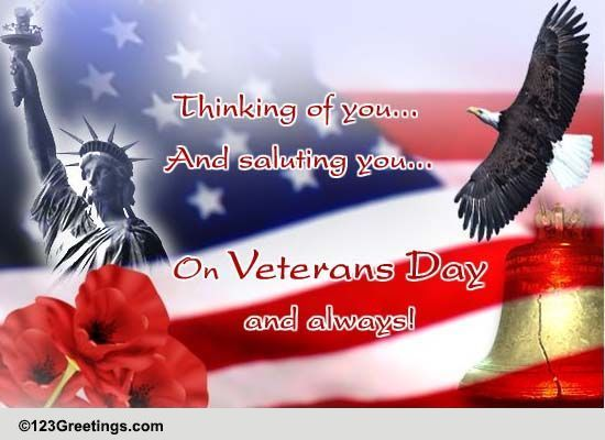 Thinking Of You And Saluting You Free Veterans Day