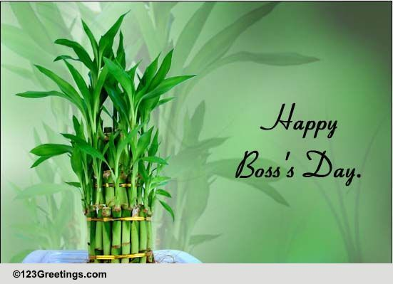 On Bosss Day For Your Boss Free Happy Bosss Day ECards 123 Greetings
