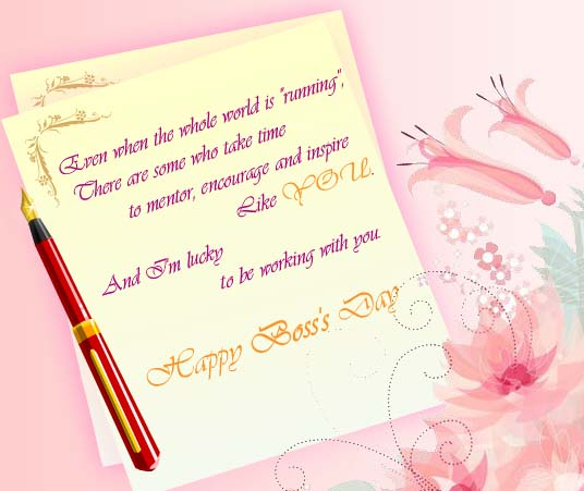 You Are Respected Free Happy Bosss Day ECards Greeting Cards 123 Greetings