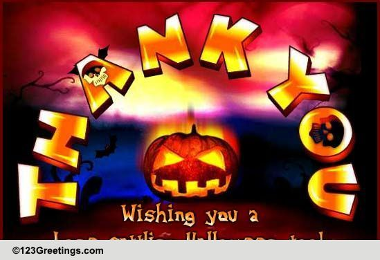 Halloween Thank You Message Free Thank You Ecards Greeting Cards 123 Greetings