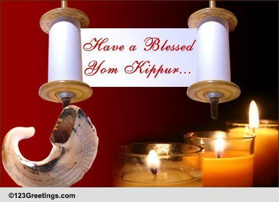 Wishes For A Blessed Yom Kippur Free Yom Kippur ECards 123 Greetings