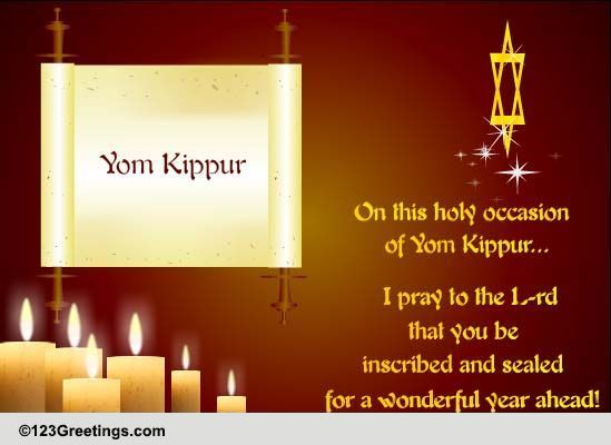 Why is hanging out outside synagogue suddenly cool? Wonderful Year Ahead... Free Yom Kippur eCards, Greeting