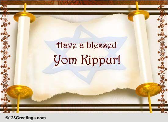 Yom Kippur Cards Free Yom Kippur Wishes Greeting Cards 123 Greetings
