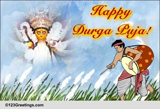 Happy Durga Puja Wishes Free Happy Durga Puja ECards Greeting Cards 123 Greetings