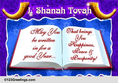 Be Written In For Rosh Hashanah Free Religious Blessings ECards 123 Greetings