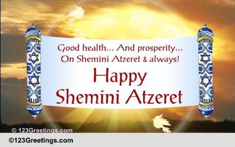 Shemini Atzeret Cards Free Shemini Atzeret Wishes Greeting Cards 123 Greetings