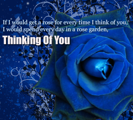 If I Would Free Thinking Of You ECards Greeting Cards