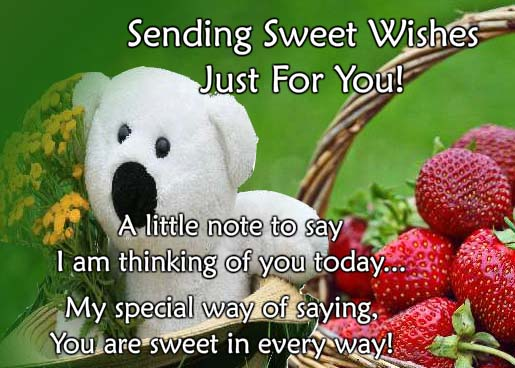 Cute Teddy Wishes Free Thinking Of You ECards Greeting Cards 123 Greetings