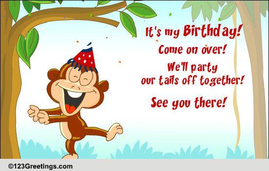 E Birthday Invitation Cards – Free 123 Greeting Cards Birthday