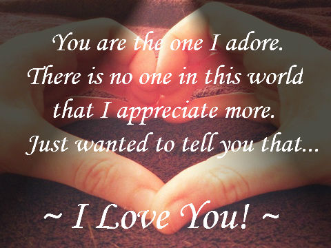 For The One I Adore Free I Love You ECards Greeting