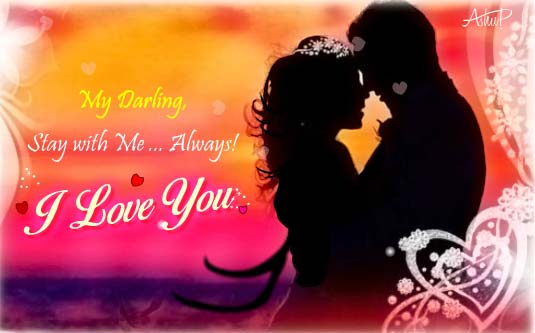 Stay With Me Always Free I Love You ECards Greeting