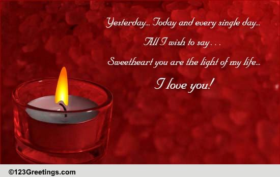 You Are The Light Of My Life Free For Your Sweetheart