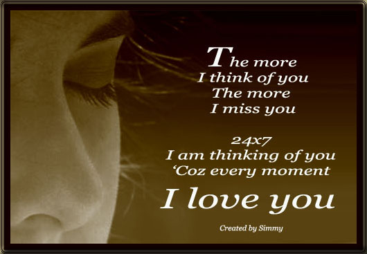 The More I Think Of You... Free Thinking of You eCards ...