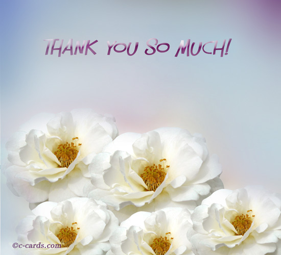 Roses And Thank You Free For Everyone ECards Greeting