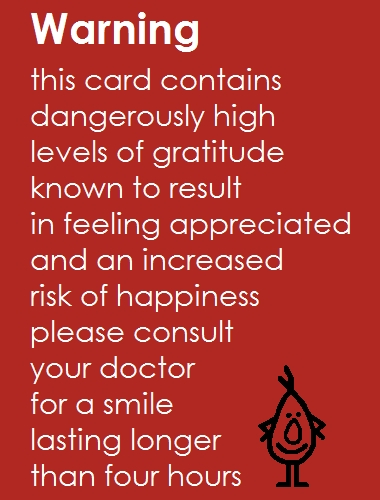 Warning A Funny Thank You Poem Free For Everyone ECards