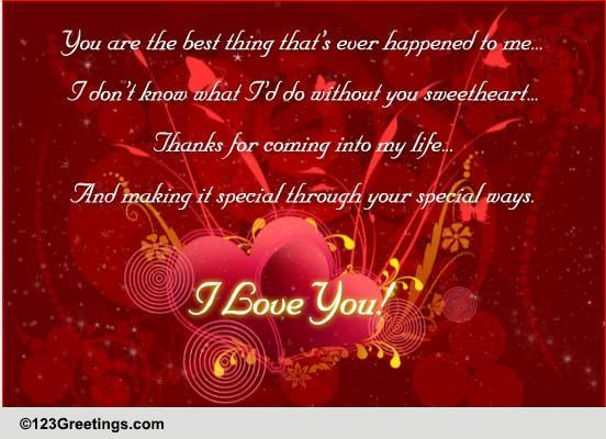 Download Thanks Sweetheart! Free For Your Love eCards, Greeting ...